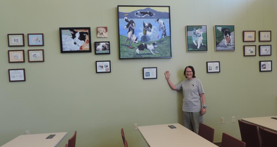 Ellen Reintjes_Dog Paintings_ Lafayette Library Homework Center_DSCN8860_Cropped_1